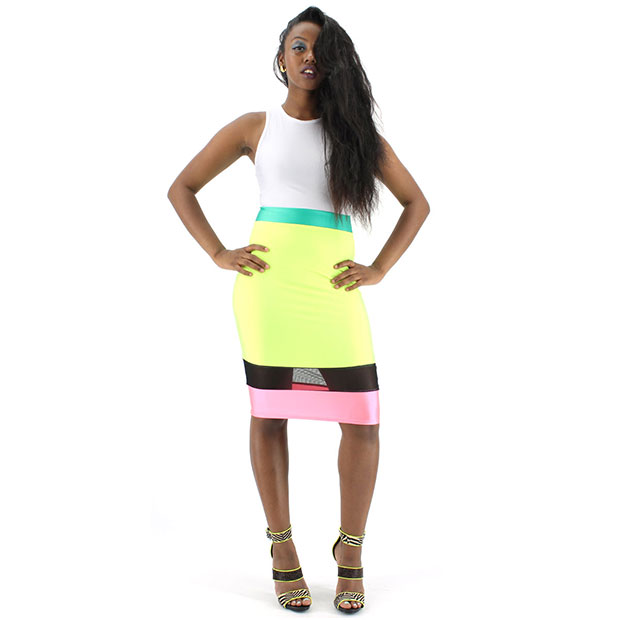 Neon Body Party Dress