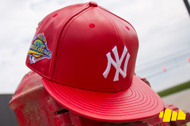 Spike Lee New Era Heritage Series The 1996 Collection Scarlet Red Leather New York Yankees Cap