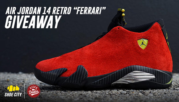 Air Jordan 14 Retro Ferrari Giveaway